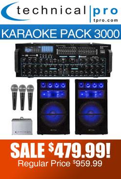 Karaoke pack 3000