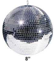 8 Inch Mirrorball