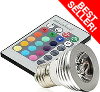 LED Bulb with 5 Momdes and 16 Colors