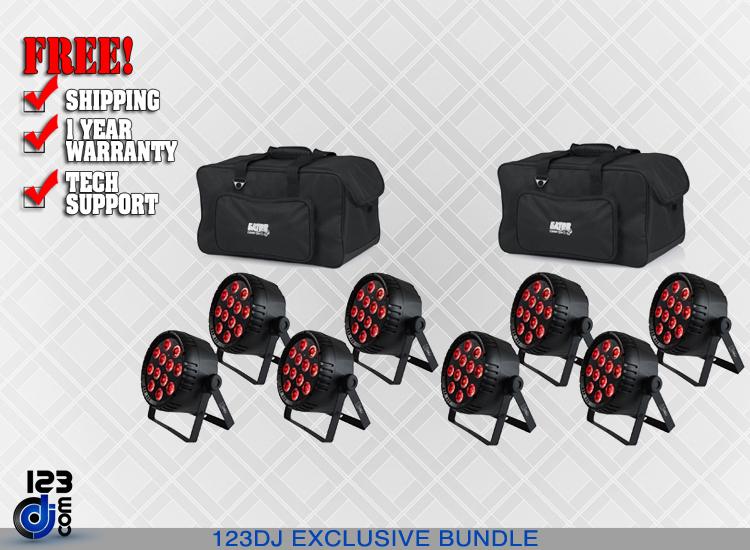 Blizzard LB Par Hex RGBAWUV LED Light 8-Pack w/ Bags