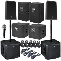 """Electro-Voice ZLX-15P 15"""" Powered Speaker & Subwoofer Duo Package"""