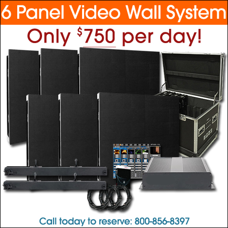 6 Panel Video Wall System