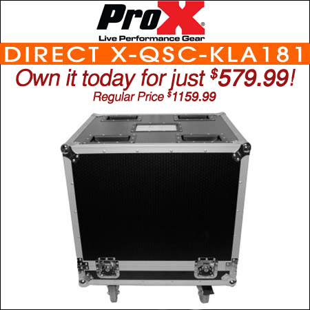 ProX Direct X-QSC-KLA181 Subwoofer Road Case Fits 1x QSC KLA181